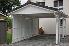 carport geschlossen mit satteldach